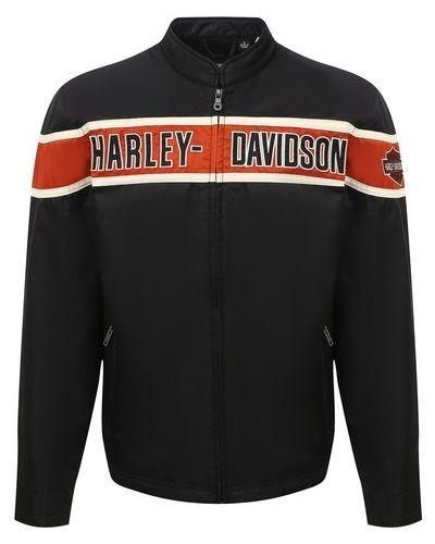 Куртка с подкладкой с воротником с вышивкой Harley Davidson