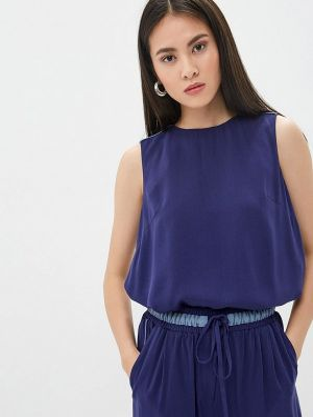 Блузка без рукавов синяя Ruxara