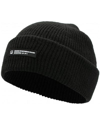 Шерстяная шапка бини - черная Fila