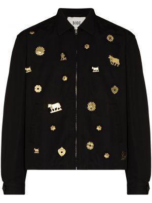 Czarna klasyczna kurtka Bode