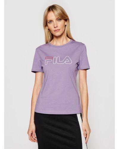 Fioletowy t-shirt Fila