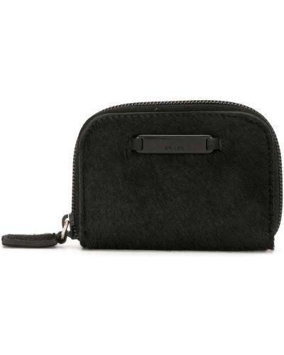 Шерстяная черная косметичка на молнии с подкладкой Prada Pre-owned