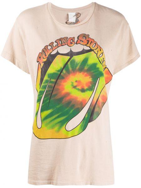 T-shirt bawełniany krótki rękaw z printem Madeworn