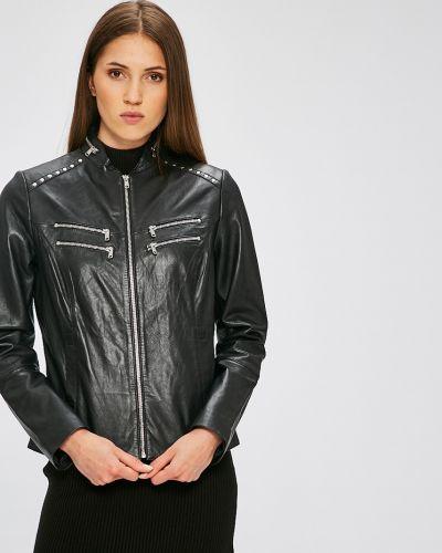 Прямая черная куртка с шипами Ochnik