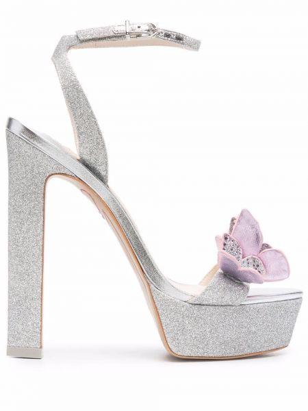 Кожаные сандалии - розовые Sophia Webster