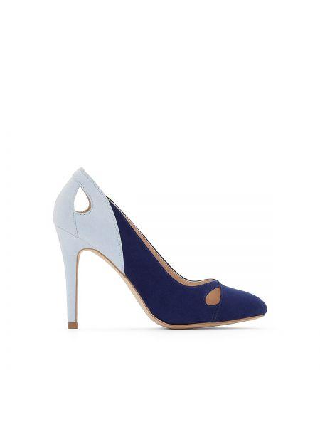 Туфли на каблуке на широкую ногу с пряжкой La Redoute Collections