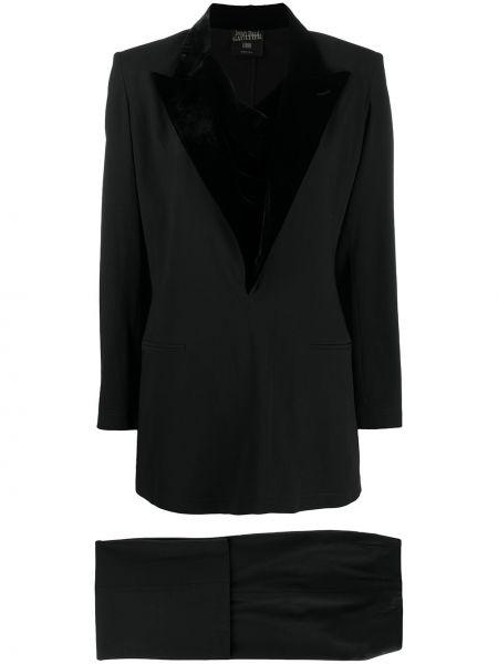 Шерстяной черный костюмный костюм свободного кроя Jean Paul Gaultier Pre-owned