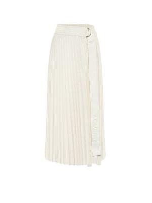 Biała spódnica midi Moncler