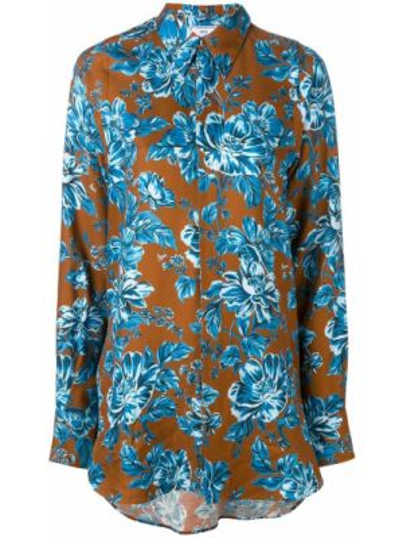 Рубашка с длинным рукавом - коричневая Ami Paris