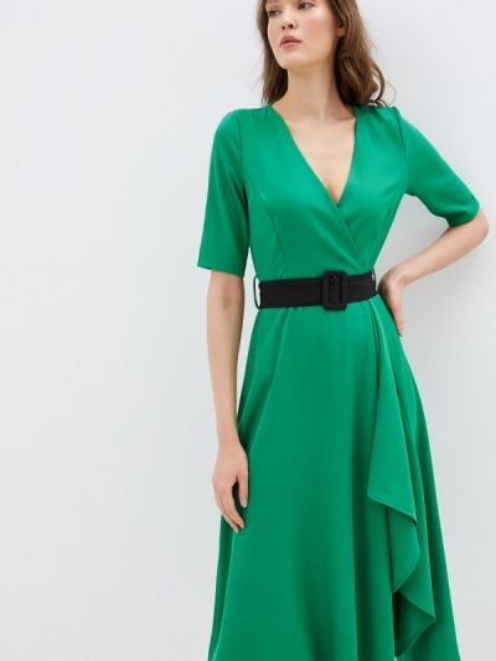 Зеленое платье с запахом Rinascimento