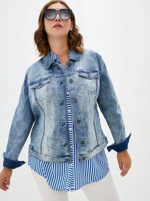 Голубая демисезонная джинсовая куртка Samoon By Gerry Weber