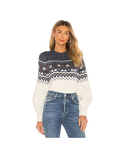 Хлопковый белый вязаный свитер Minkpink