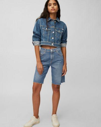 Niebieskie jeansy z wysokim stanem Marc O Polo