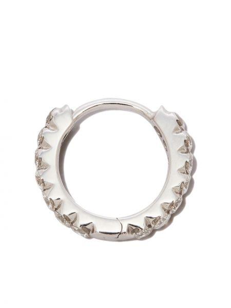 Białe kolczyki srebrne Maria Tash