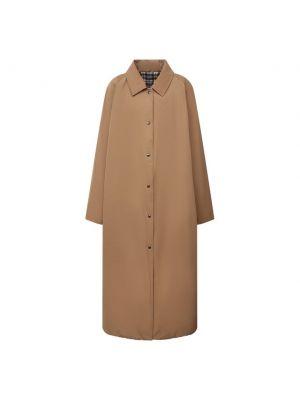 Хлопковый плащ - коричневый Forte Dei Marmi Couture