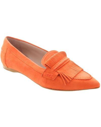 Pomarańczowe loafers Zinda