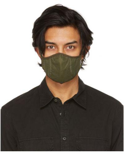 Zielony maska do twarzy siatkowaty z łatami C.p. Company