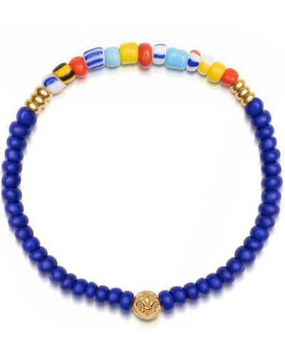 Złota bransoletka z koralikami perły vintage Nialaya