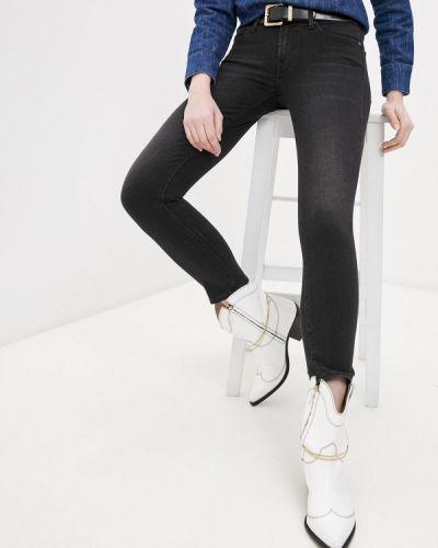 Черные джинсы-скинни узкого кроя 7 For All Mankind