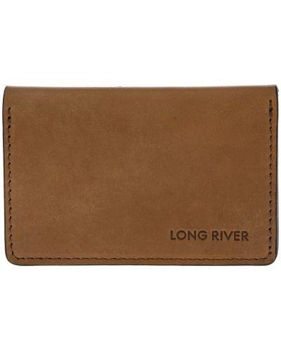 Кожаная коричневая визитница Long River