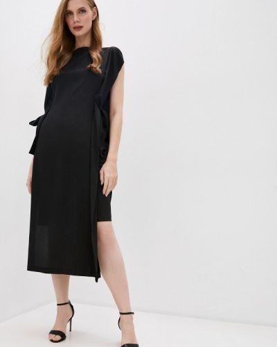 Повседневное черное повседневное платье Mcq Alexander Mcqueen