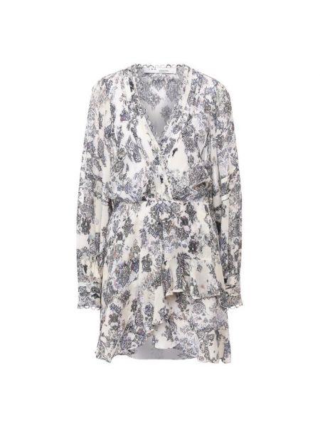 Платье мини с V-образным вырезом шелковое Iro