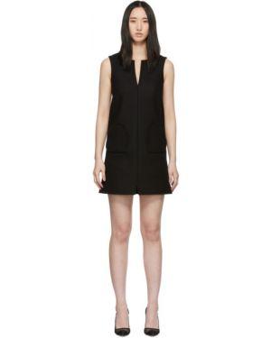 Платье с отложным воротником черное Red Valentino