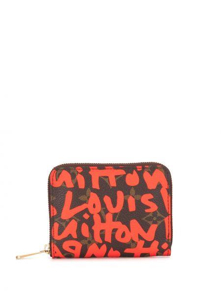 Парусиновый коричневый кошелек Louis Vuitton