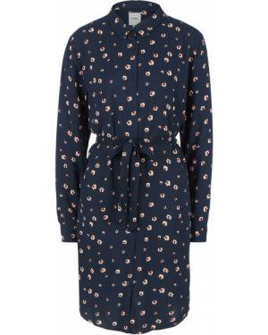 Платье с цветочным принтом синее Ichi