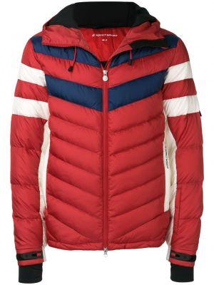 Красная нейлоновая куртка с капюшоном на молнии с карманами Perfect Moment