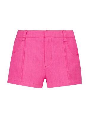 Розовые короткие шорты из вискозы Jacquemus