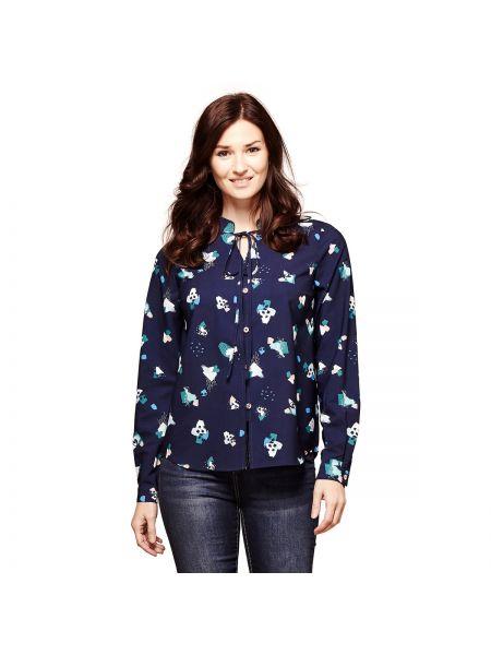 Рубашка с длинным рукавом с принтом свободного кроя Yumi