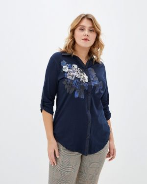 Блузка с коротким рукавом синяя Milanika