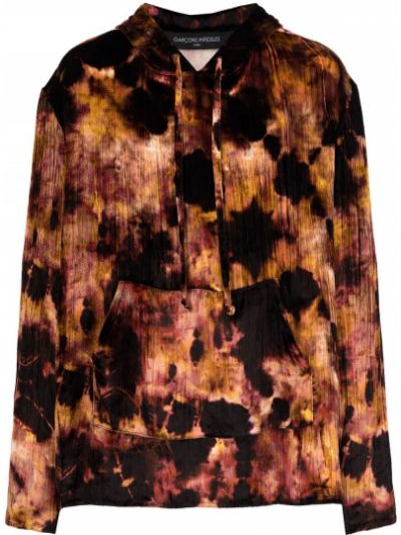 Czarna bluza długa z kapturem z długimi rękawami Garçons Infideles