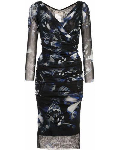 Платье миди макси с V-образным вырезом Fuzzi