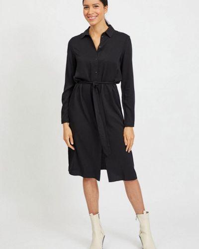 Черное платье-рубашка Vila