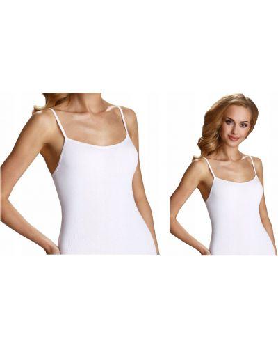 Biała bluzka bez rękawów bawełniana Eldar