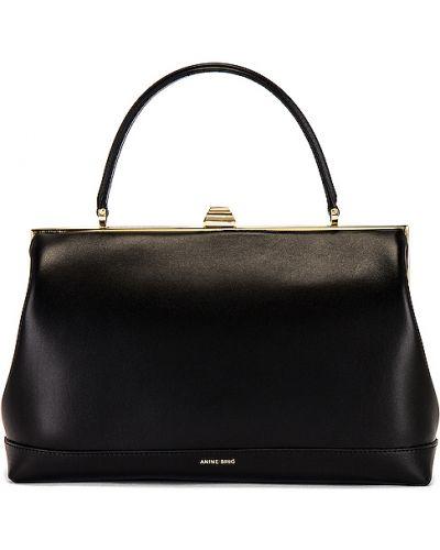 Skórzany czarny torba kosmetyczna zabytkowe z kieszeniami Anine Bing
