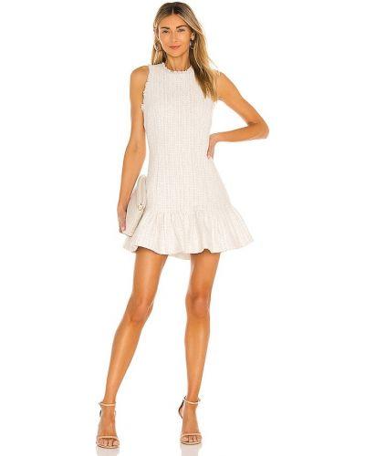 Белое платье с подкладкой твидовое Likely