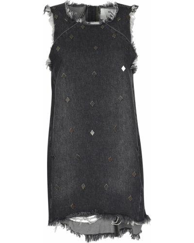 Хлопковое платье - серое Oneteaspoon