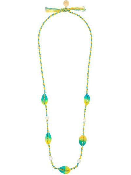 Złoty naszyjnik perły pozłacany Venessa Arizaga