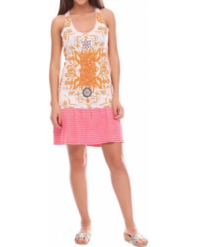 Платье с принтом - розовое Custo Barcelona