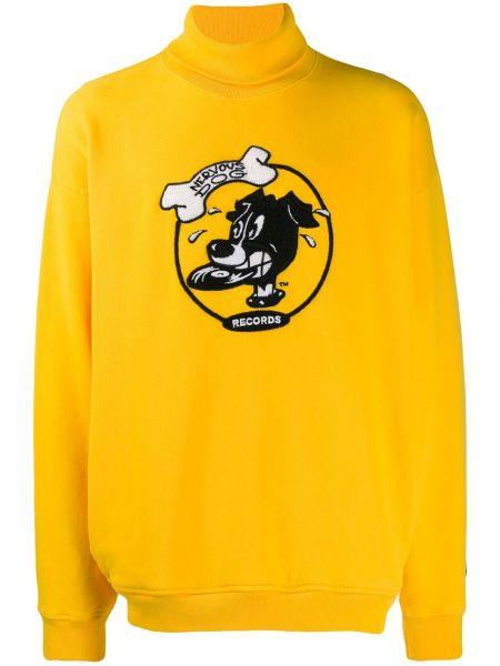 Żółta bluza z długimi rękawami bawełniana Buscemi