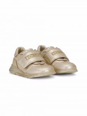 Złote buty sportowe Dolce & Gabbana Kids