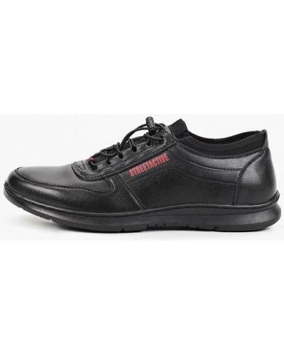 Черные кожаные кроссовки Go.do.