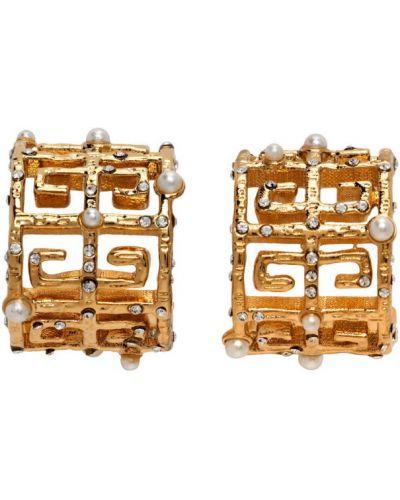Kolczyki ze sztyftem złoto z perłami Givenchy