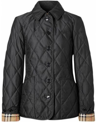 Черная стеганая куртка на пуговицах Burberry