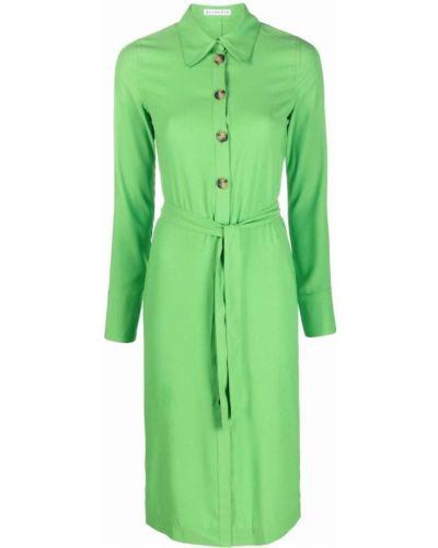 Zielona sukienka długa z długimi rękawami Rejina Pyo