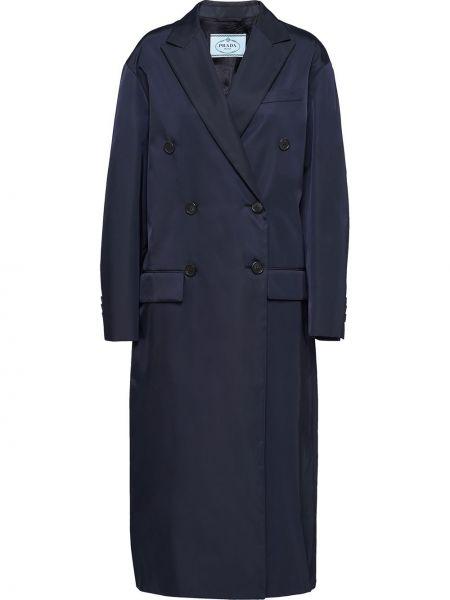 Płaszcz z kieszeniami niebieski Prada