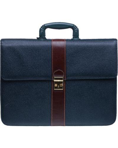 Кожаный портфель - зеленый Tigamaro